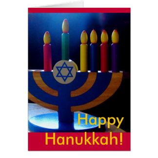 Hanukkah Menorah Card-Colors Note Card