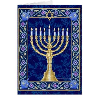Hanukkah Menorah Notecard Greeting Card