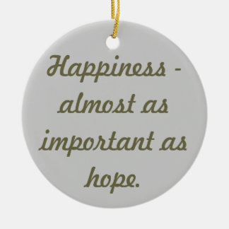 Happiness Round Ceramic Decoration