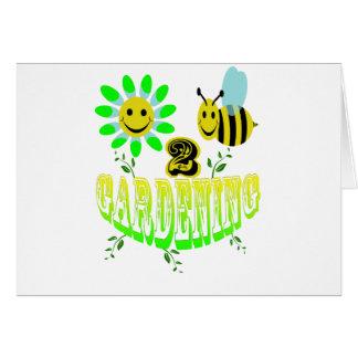 Happy 2 bee Gardening Greeting Card