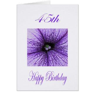 Happy 45th Birthday purple Blossom Greeting Card