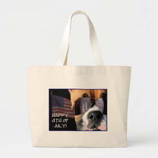 Happy 4th of July Boxer tote bag