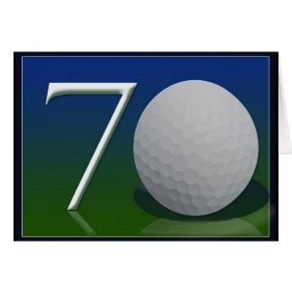 Happy 70th Birthday for golf nut Greeting Card
