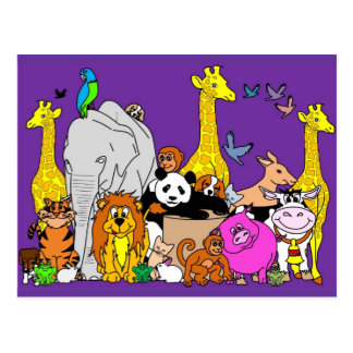 Happy Animals Postcard