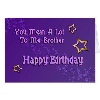 Happy Birthday Brother ( birthday) Greeting Card