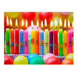 Happy Birthday Candles Postcard