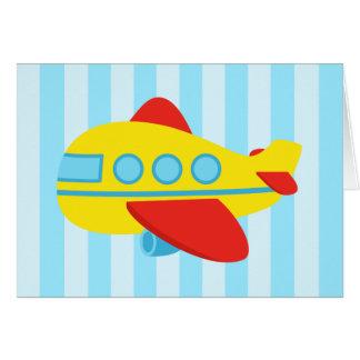 Happy Birthday, Cute and colourful aeroplane Greeting Card
