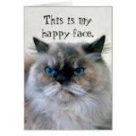 Happy Birthday Humour Himalayan Persian Cat Greeting Card