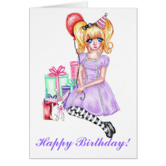 Happy Birthday (Lavender) Note Card