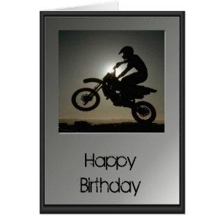 Happy Birthday - Motocross Greeting Card