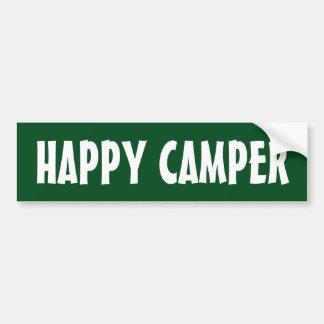 HAPPY CAMPER bumper sticker for car RV or trailer
