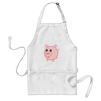 Happy Cartoon Pig Standard Apron