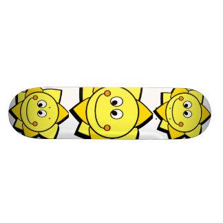 Happy Cartoon Yellow and Orange Sun 20.6 Cm Skateboard Deck