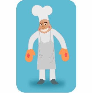 Happy Chef Photo Sculpture Magnet
