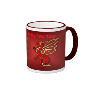 Happy Chinese New Year of the dragon Vietnam tet Ringer Mug
