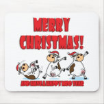 Happy Christmas Breakdancing Mouse Pad