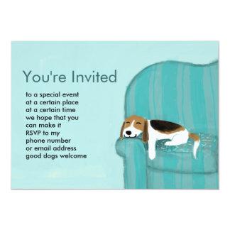 Happy Couch Dog Custom Invitation