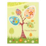 Happy Easter - Abstract Tree Postcard