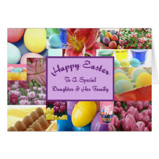Happy Easter daughter & her family Greeting Card