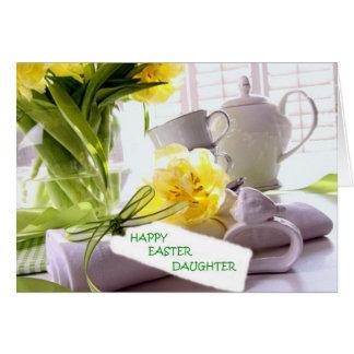 HAPPY EASTER DAUGHTER U R LOVED GREETING CARD