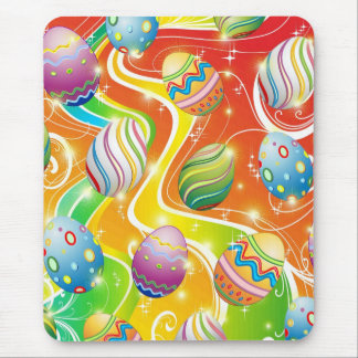 Happy Easter Eggs Ornamental Design Mouse Pad