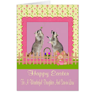 Happy Easter to Daughter/Son-in-Law Greeting Card