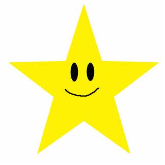 happy face star photo sculpture magnet
