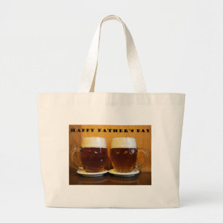 Happy Fathers Day Beer Tankards Jumbo Tote Bag