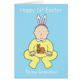 Happy First Easter to my Grandson. Greeting Card