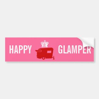 Happy Glamper - RV - Travel Trailer Humor Bumper Sticker