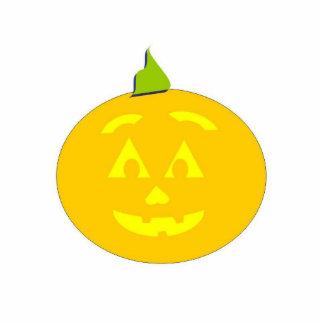 Happy Halloween Jackolantern Pin Photo Sculpture Badge