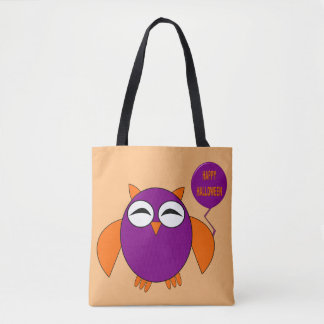 Happy Halloween Party Owl Tote Bag