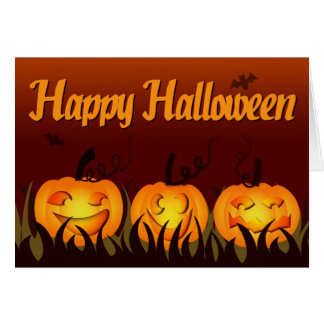 Happy Halloween - Pumpkins Greeting Card