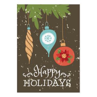 Happy Holidays Christmas Ornaments Decorative Pack Of Chubby Business Cards