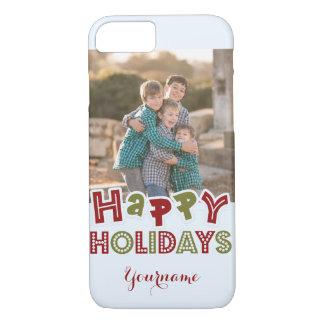 Happy Holidays custom photo & name cases