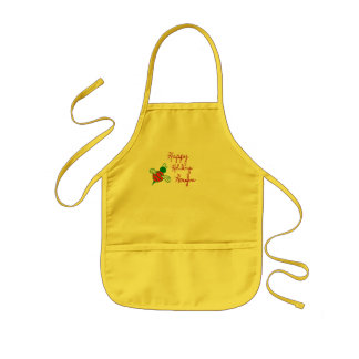 Happy Holidays Honeybee Kid's Apron