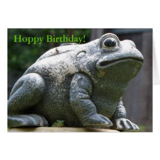 happy Hoppy Birthday Brother Frog Greeting Card