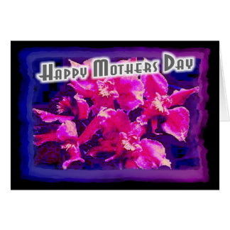 Happy Mothers Day Modern Orchids Greeting Card