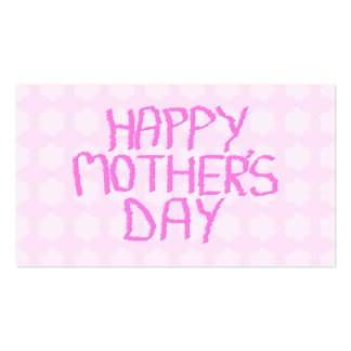 Happy Mothers Day. Pink Flower Pattern Pack Of Standard Business Cards