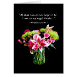 Happy Mother's Day, Stargazer Lily Bouquet Greeting Card