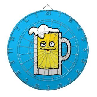 Happy Mug of Beer with Foam top Dartboard