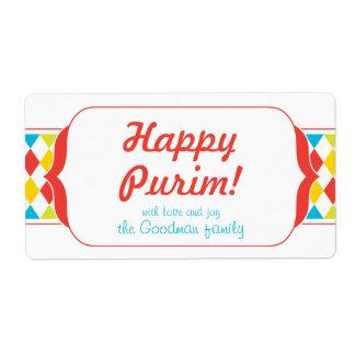 Happy Purim - Gif Label Shipping Label