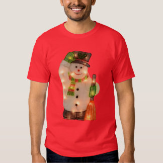 Happy Snowman with Faux Christmas Lights T-shirts