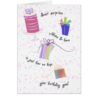 Happy Sweet 16 Ribbons and Bows Birthday Greeting Card