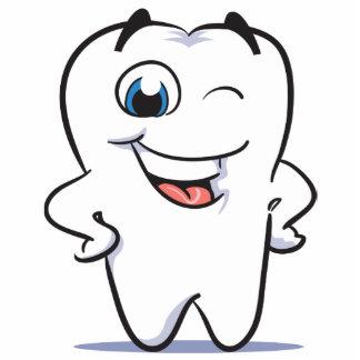 happy teeth standing photo sculpture