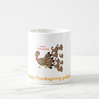 Happy Thanksgiving Basic White Mug