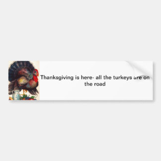 Happy Thanksgiving Vintage Turkey Bumper Sticker