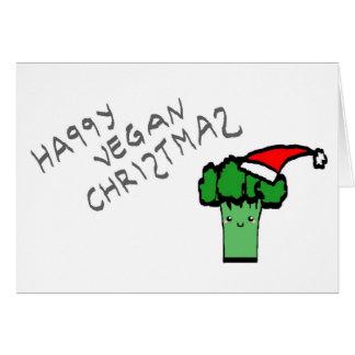 Happy vegan Christmas Greeting Card