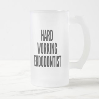 Hard Working Endodontist Frosted Glass Mug