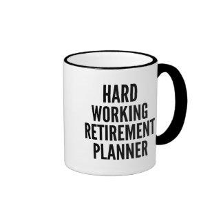 Hard Working Retirement Planner Ringer Mug